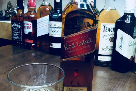 johnnie walker red whiskey