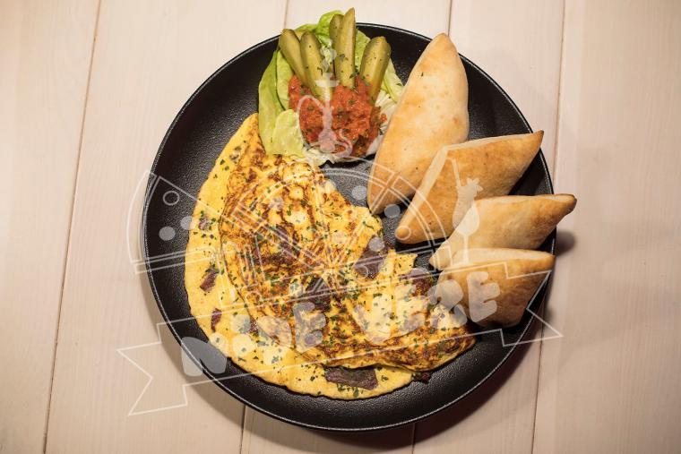 omlet prsut mozzarella